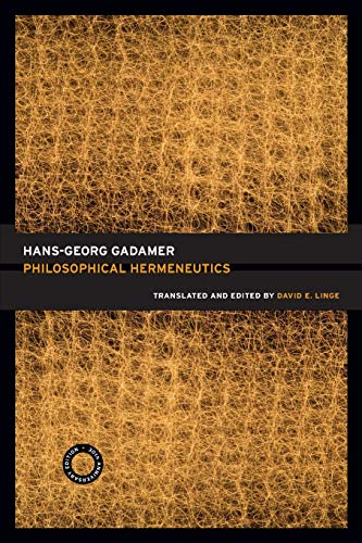 9780520256408: Philosophical Hermeneutics, 30th Anniversary Edition