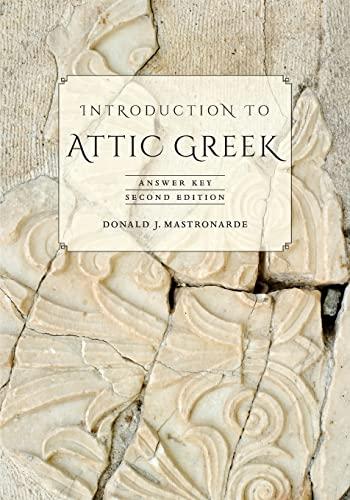 9780520275744: Introduction to Attic Greek: Answer Key