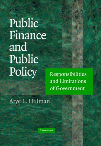 9780521001144: Public Finance and Public Policy: Responsibilities and Limitations of Government