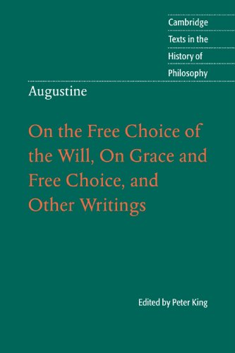 "augustine on free choice of the will book 3 1 pearce november 12, 2014 on the nature of free choice of the will st augustine discusses many theological points with evodius in his book, and the central question posed to the saint is ""why god gave man free choice of the will,"" (augustine 35."