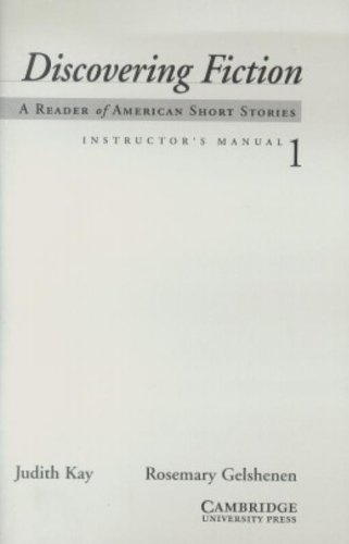 9780521002356: Discovering Fiction Level 1 Instructor's Manual: A Reader of American Short Stories