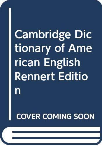 9780521002479: Cambridge Dictionary of American English Rennert Edition