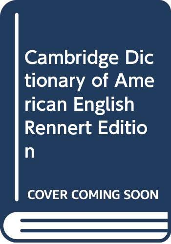 9780521002479: Cambridge Dictionary of American English Rennert Edition