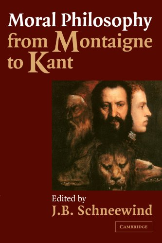 9780521003049: Moral Philosophy from Montaigne to Kant