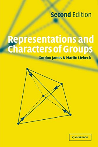 9780521003926: Representations and Characters of Groups, Second Edition