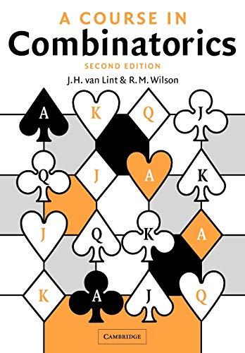 9780521006019: A Course in Combinatorics