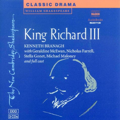 King Richard III Audio CD Set (3 CDs) (New Cambridge Shakespeare Audio): William Shakespeare
