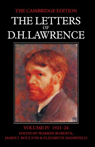 9780521006958: 4: The Letters of D. H. Lawrence (The Cambridge Edition of the Letters of D. H. Lawrence) (Volume 4)