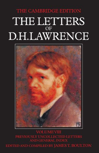 9780521007009: The Letters of D. H. Lawrence: Volume 8 (The Cambridge Edition of the Letters of D. H. Lawrence)