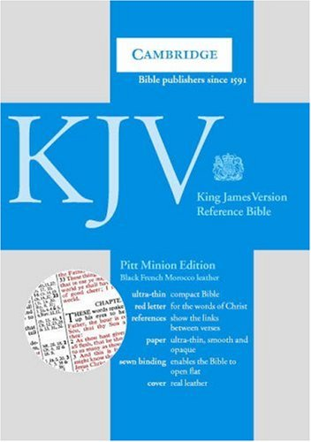 KJV Pitt Minion Reference Black French Morocco R183 (0521007402) by Baker Publishing Group