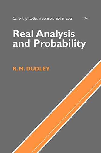 9780521007542: Real Analysis and Probability (Cambridge Studies in Advanced Mathematics)