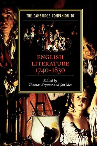 9780521007573: The Cambridge Companion to English Literature, 1740-1830