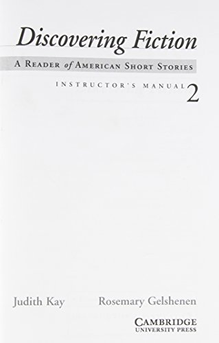 9780521008099: Discovering Fiction 2 Instructor's Manual: A Reader of American Short Stories: Instructor's Manual 2