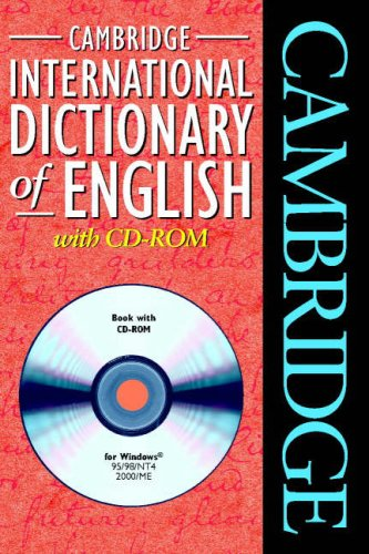 9780521009850: Cambridge International Dictionary of English with CD-ROM