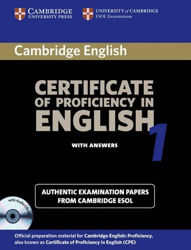 9780521009928: Certificate Of Proficiency In English 1. Student's Book (+ Key): Examination Papers from the University of Cambridge Local Examinations Syndicate (CPE Practice Tests)