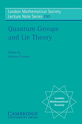 9780521010405: Quantum Groups and Lie Theory (London Mathematical Society Lecture Note Series)