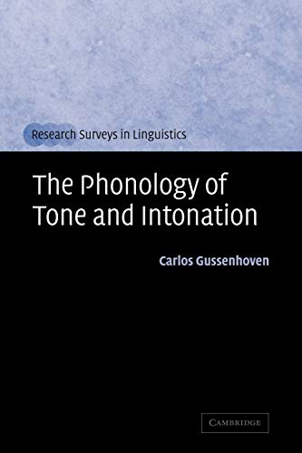 9780521012003: The Phonology of Tone and Intonation (Research Surveys in Linguistics)