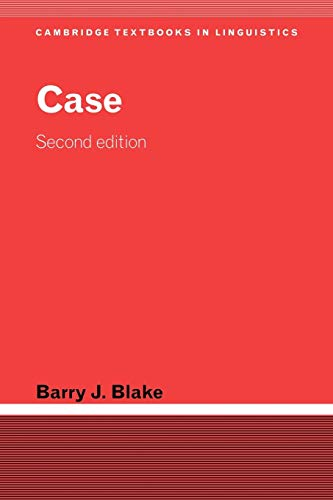 9780521014915: Case (Cambridge Textbooks in Linguistics)