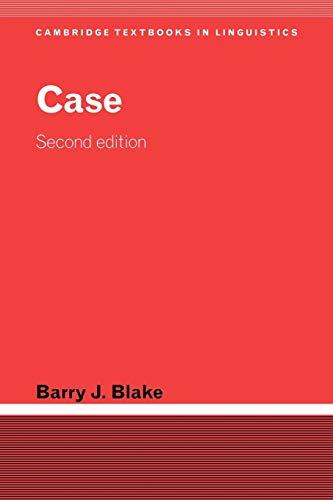 9780521014915: Case (Cambridge Textbooks in Linguistics)