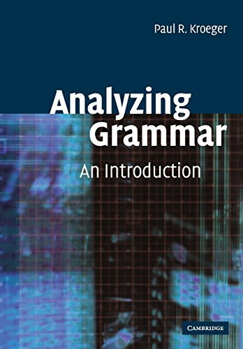 9780521016537: Analyzing Grammar: An Introduction (Cambridge Textbooks in Linguistics)