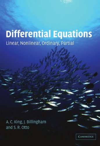 9780521016872: Differential Equations: Linear, Nonlinear, Ordinary, Partial