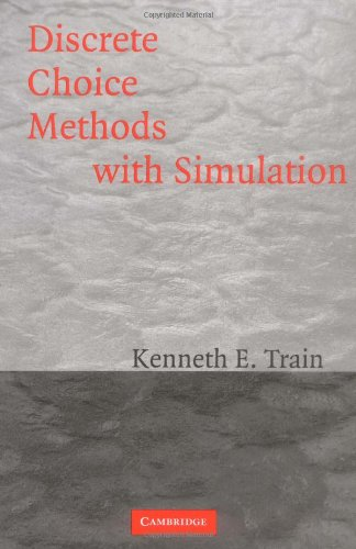 9780521017152: Discrete Choice Methods with Simulation