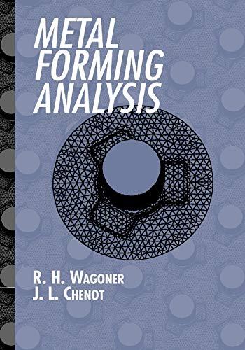 9780521017725: Metal Forming Analysis