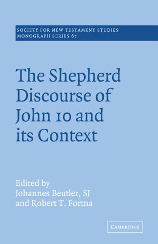 9780521020602: The Shepherd Discourse of John 10 and its Context (Society for New Testament Studies Monograph Series)
