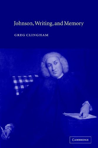 Johnson, Writing, and Memory: Clingham, Greg