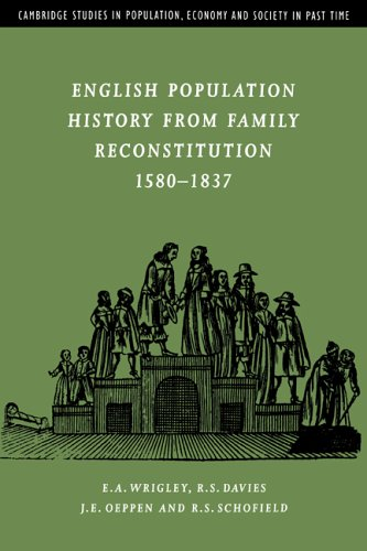 English Population History from Family Reconstitution 1580-1837 (Cambridge Studies in Population, ...