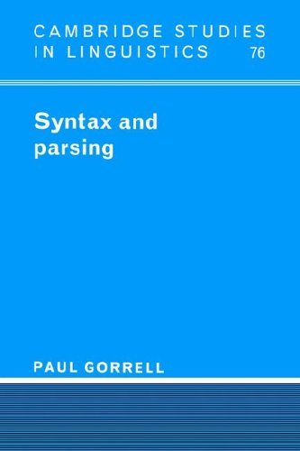 9780521024099: Syntax and Parsing (Cambridge Studies in Linguistics)