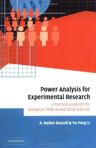 9780521024563: Power Analysis for Experimental Research: A Practical Guide for the Biological, Medical and Social Sciences