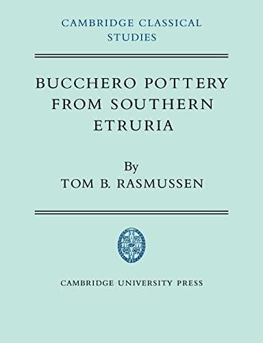 9780521024617: Bucchero Pottery from Southern Etruria