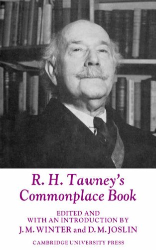 R. H. Tawney's Commonplace Book