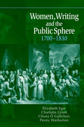 9780521025805: Women, Writing and the Public Sphere, 1700-1830