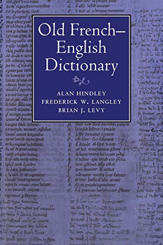 9780521027045: Old French-English Dictionary
