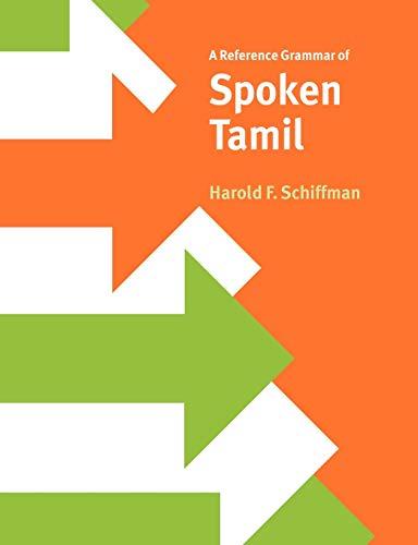 9780521027526: A Reference Grammar of Spoken Tamil (Reference Grammars)
