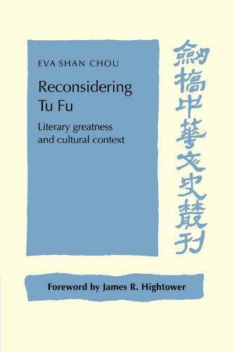 9780521028288: Reconsidering Tu Fu: Literary Greatness and Cultural Context