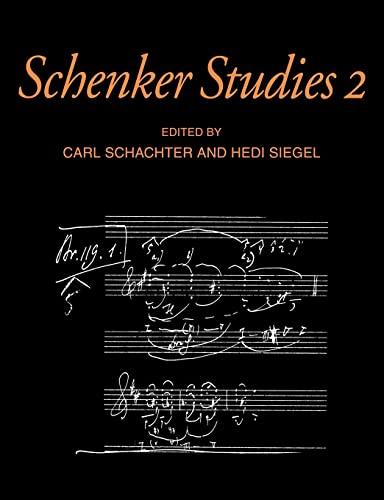 Schenker Studies 2 (Paperback)