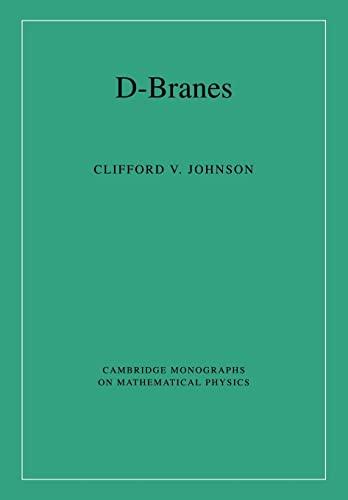 9780521030052: D-Branes (Cambridge Monographs on Mathematical Physics)