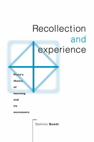 9780521030915: Recollection and Experience: Plato's Theory of Learning and its Successors