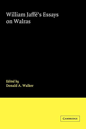 9780521034326: William Jaffe's Essays on Walras