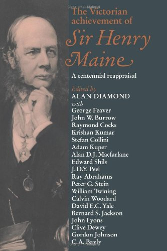 9780521034548: The Victorian Achievement of Sir Henry Maine: A Centennial Reappraisal