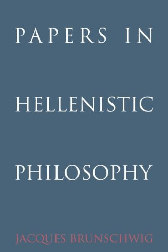 Papers in Hellenistic Philosophy: Brunschwig, Jacques