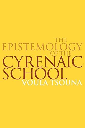 9780521036368: The Epistemology of the Cyrenaic School