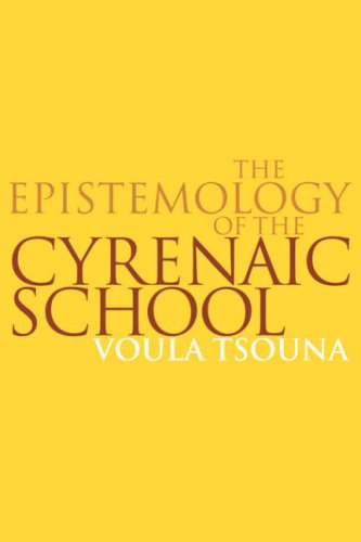 9780521036368: The Epistemology of the Cyrenaic School