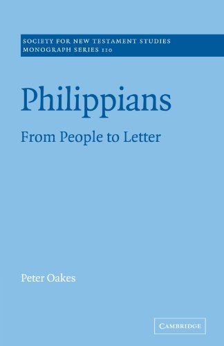 9780521036610: Philippians: From People to Letter