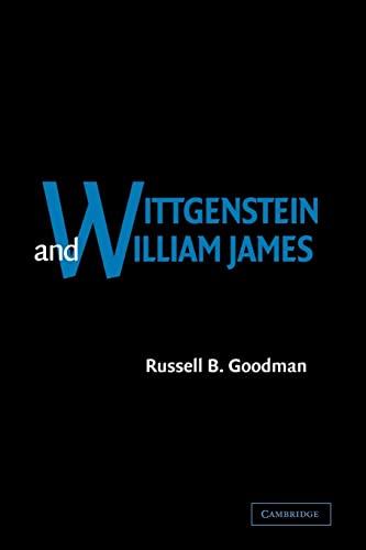 9780521038874: Wittgenstein and William James