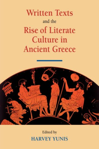 9780521039154: Written Texts and the Rise of Literate Culture in Ancient Greece