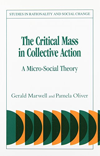9780521039550: The Critical Mass in Collective Action (Studies in Rationality and Social Change)